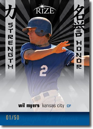 2012 RIZE Draft Strength and Honor BLACK Paragon Card #SH-11 Wil Myers - Kansas City Royals / Tampa Bay Rays (Rookie / Prospect Insert) (Serial #d to 50) MLB Baseball - Store Myer City