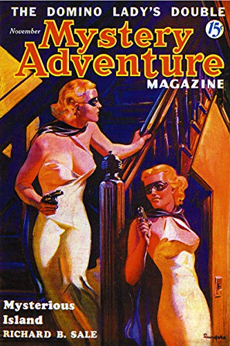 - November 1936 Mystery Adventure The Domino Ladys Double Vintage Pulp Magazine Cover Retro Art Poster - 24x36