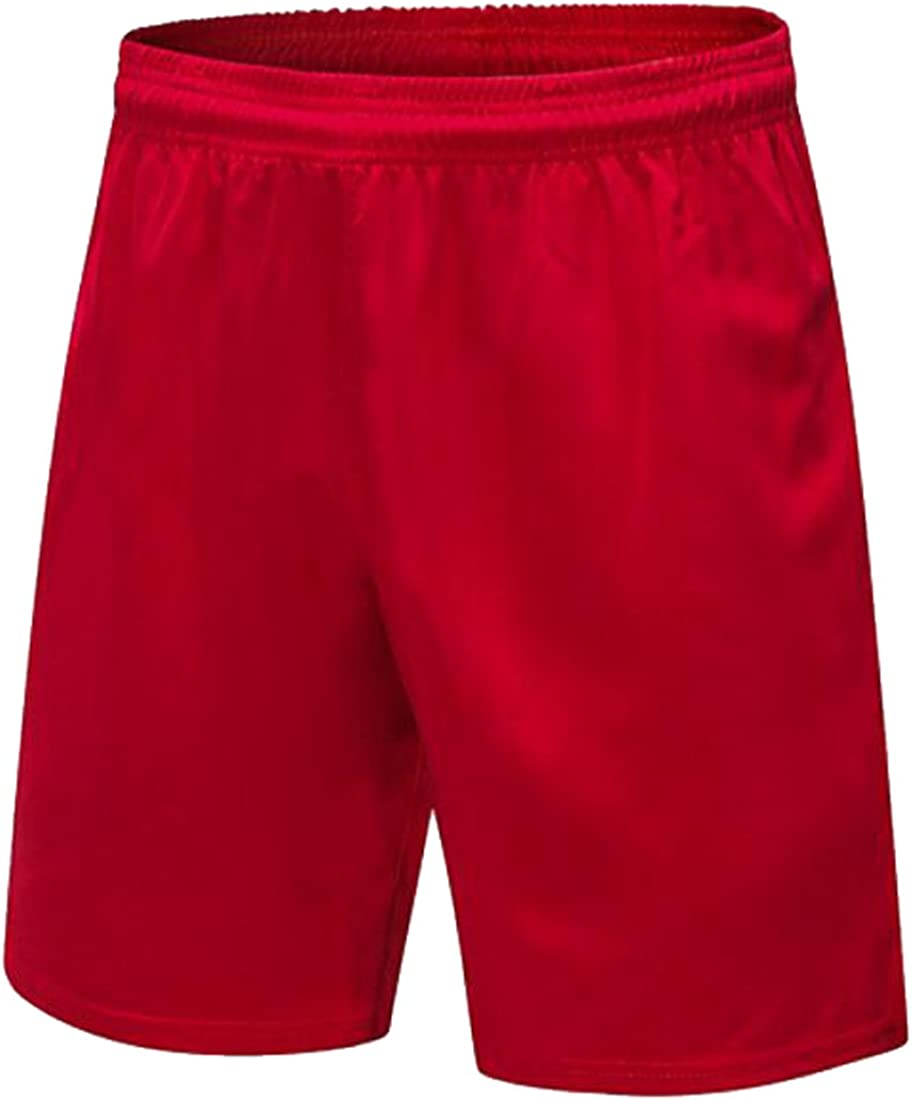 WAWAYA Mens Casual Athletic Elastic Waist Shorts for Running Gym Basketball