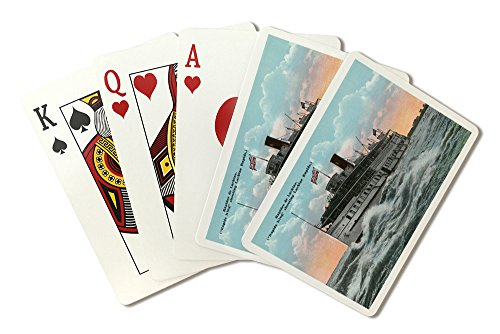 Montreal, Quebec - Rapids King Ship Shooting the Lachine Rapids (Playing Card Deck - 52 Card Poker Size with Jokers)