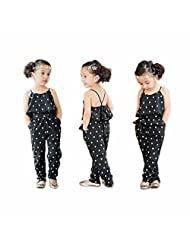 FEITONG 2016 Hot Fashion Toddlers Children Girls Love Heart Straps Jumpsuits