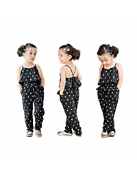 FEITONG Hot Fashion Toddlers Children Girls Love Heart Straps Jumpsuits
