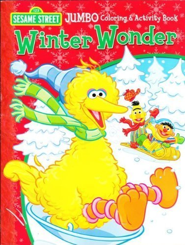 amazoncom sesame street winter wonder coloring and activity book toys games