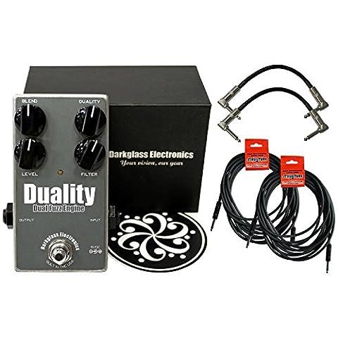 Darkglass Duality Fuzz Bass Fuzz Pedal w/ 4 Cables (Bass Pedal Fuzz)