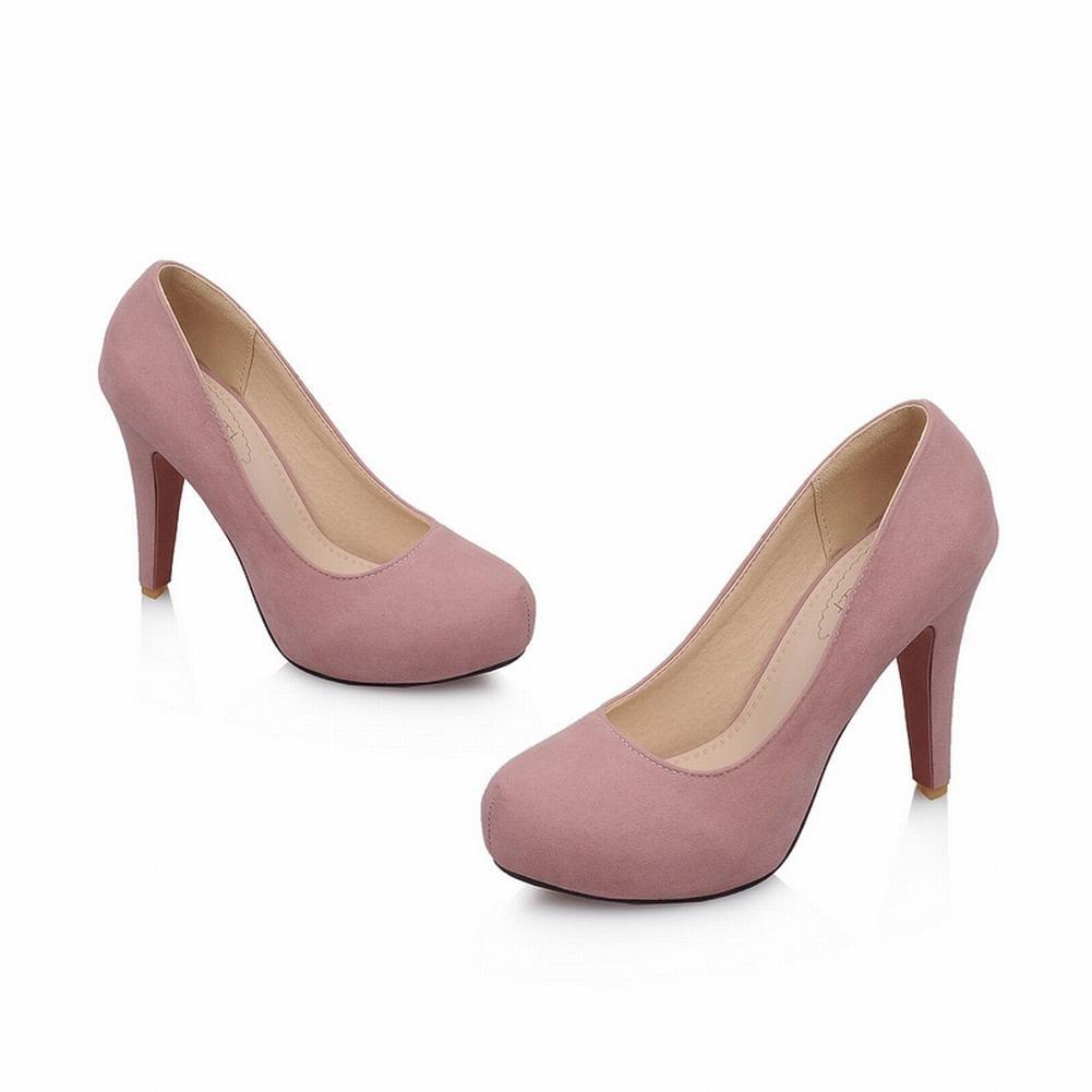 Mee Shoes Damen inner Plateau runde Nubukleder high heels Pumps: Amazon.de:  Schuhe & Handtaschen