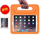 iPad Mini 1/2/3 Kids Case, SUPLIK Shockproof Protective Handle Bumper Stand Cover with Screen Protector for Apple 7.9 inch iPad Mini 1st,2nd,3rd Generation, Orange