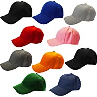 CoverYourHair Baseball Caps - Colored Baseball Hats - Plain Baseball Caps - Multi-Pack by