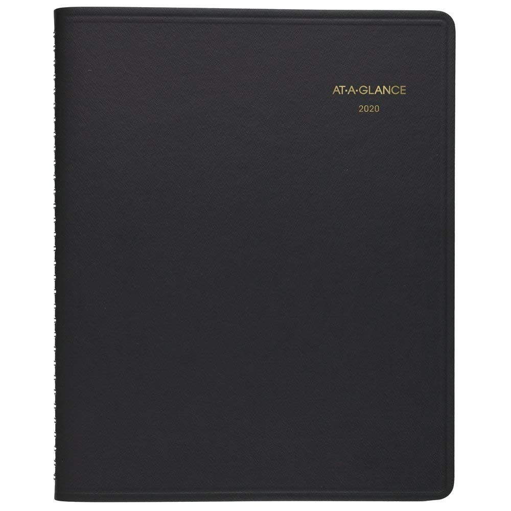 AT-A-GLANCE 2020 Daily Planner/Appointment Book, 8-1/2'' x 11'', Large, 24 Hour, Black (7021405) by AT-A-GLANCE
