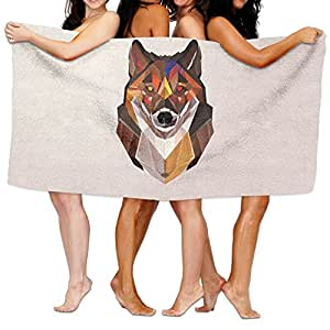 """Toalla de baño de lobo otoñal, cómoda toalla de playa de baño, 31.5"""" x 51.2"""" Mini multiusos, ideal para el hogar y uso de viaje"""