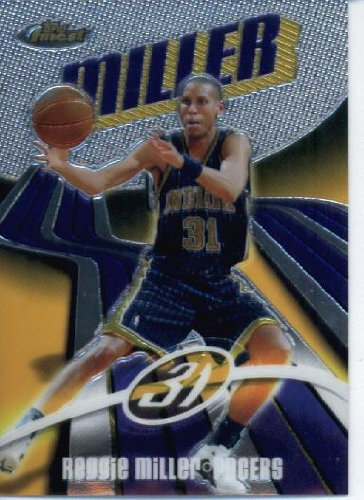2003 04 Topps Finest Basketball Card #31 Reggie Miller Indiana - Finest 2003 Card Topps
