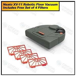 "Neato Robotics XV-11 Robotic All-Floor Vacuum System, 13"" L X 12.5"" W X 4"" H"