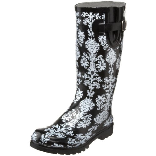 Nomad Women's Puddles Pull-on Boot,Black/White Victorian,8 M US
