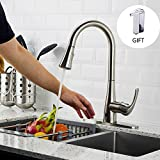 copper kitchen faucet with soap dispenser FORIOUS Touchless Kitchen Faucet with Pull Down Sprayer, Single Handle For Automatic Motion Sensor Kitchen Sink Faucets, Brushed Nickel …