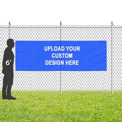 CGSignLab |Customize Now with Online Designer | 9oz. Wind-Resistant Outdoor Mesh Vinyl Banner with Reinforced Hems & Metal Grommets | 9'x3'