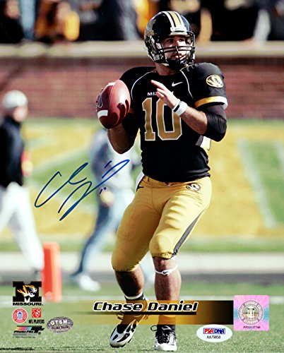 CHASE DANIEL AUTOGRAPHED 8X10 PHOTO MISSOURI TIGERS PSA/DNA STOCK ()