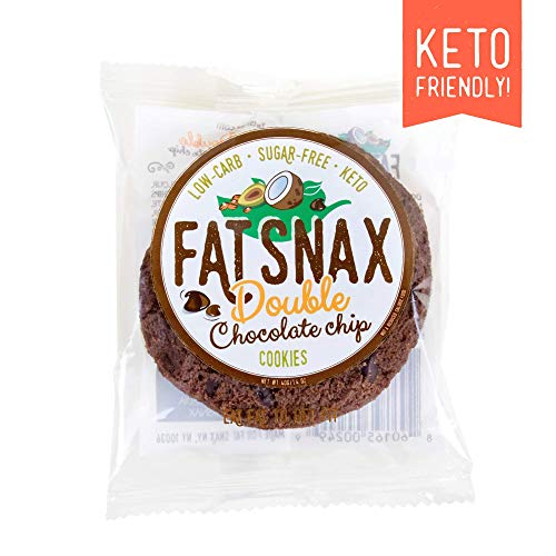 Fat Snax Cookies - Low Carb, Keto, and Sugar Free (Double Chocolate Chip,...