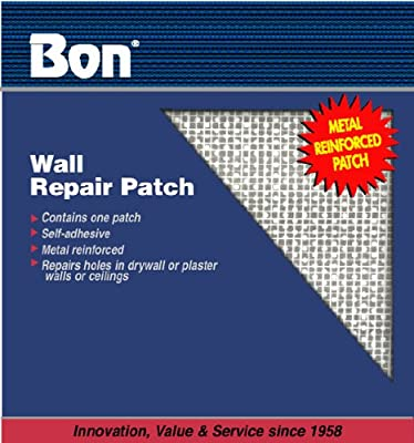 Bon 15-462 6-Inch by 6-Inch Self Adhesive Wall Repair Patch, 50-Pack