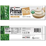 Primal Thin 20g Protein Bar (Sweet Cream)(Organic Grass Fed Whey) (130 Cal) (1g Sugar) (1 Net Carb) (Gluten-Free) (12 Bars)
