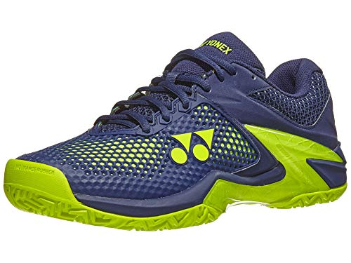 YONEX Power Cushion Eclipsion 2 Mens Tennis Shoe, Navy/Yellow (Size 8.5)