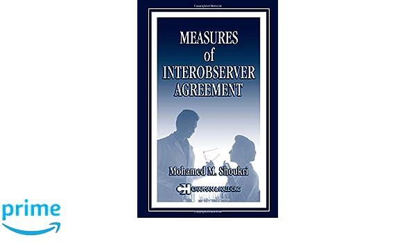 Measures Of Interobserver Agreement 9781584883210 Medicine