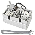 HIYAGON Large Sized Storage Baskets with Handle,Collapsible & Convenient Home Organizer Containers for Kids Toys,Baby Clothing (Parent-Child Elephant)