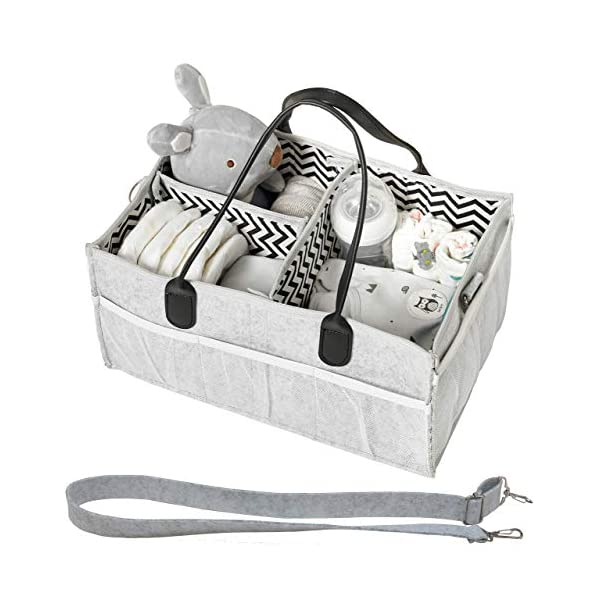 Diaper Caddy – Baby Diaper Caddies Organizer, Cloth Diapering, Tote Bag, Nursery Storage Bin for Changing Table, Portable Car Travel Organizer, Baby Wipes Shower Gift Basket for Baby Essentials
