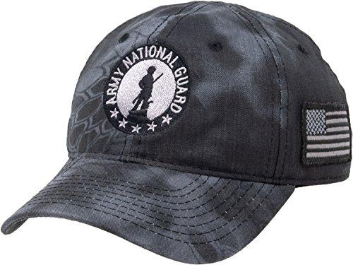National Guard | Camo U.S. Military Hat Cap Tactical Flag Army Veteran Vet Black