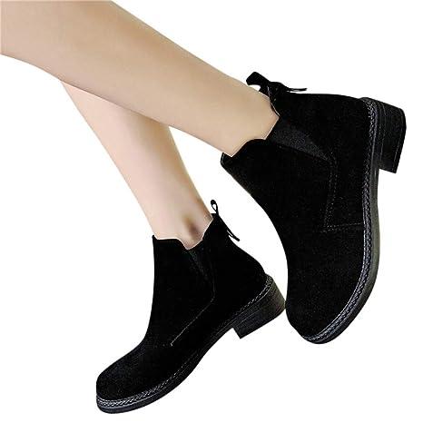 Btruely Zapatos de Mujer❤ Zapatos Moda para Mujer de Coser rebaño Corto Botines Fuera Zapatos de Punta Redonda Zapatillas de Deporte: Amazon.es: Deportes ...