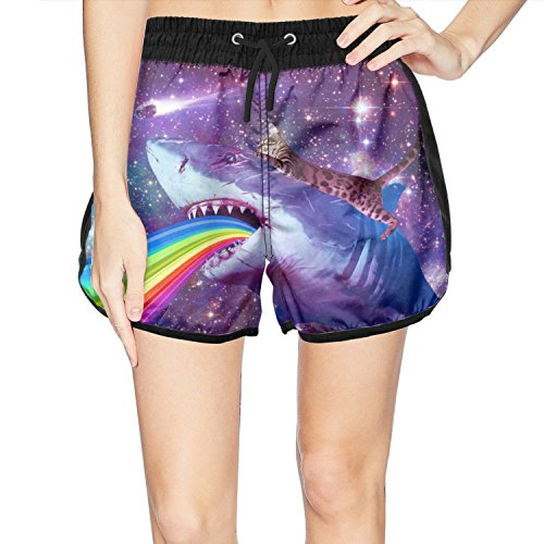 Navigator Quick Dry Shorts - Juliuse Marthar Women's Galaxy Space Shark Cat Fashion Swimming Trunks Short Quick Dry Summer Short