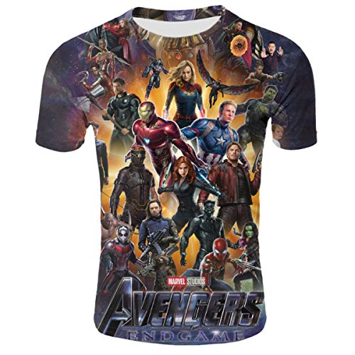 Avengers 4 End Game Youth Girls 3D Pattern Printed Short Sleeves Shirt