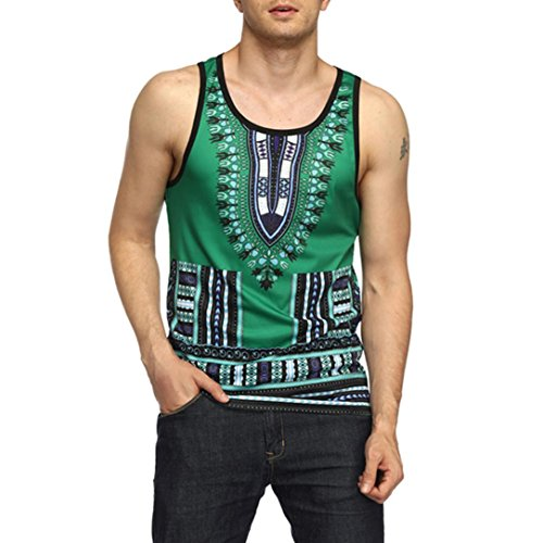 Big Promotion! Wintialy Men's Slim Fit Bohemia Printed Muscle Sleeveless Vest Tops Blouse