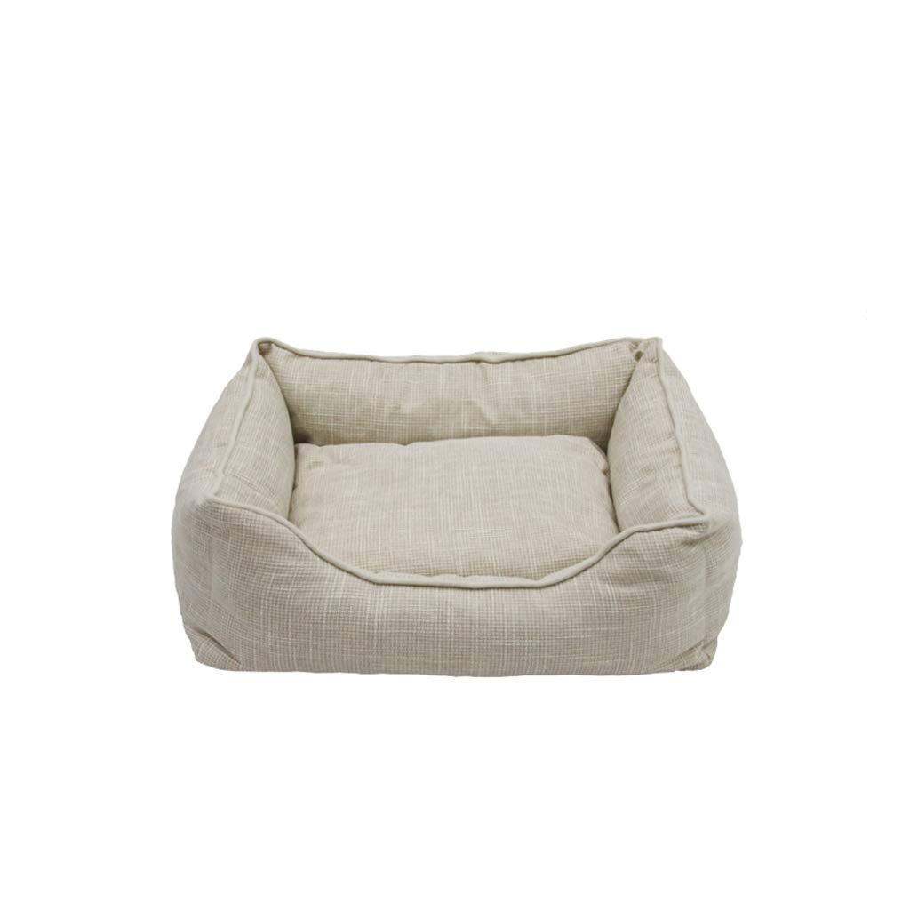 S KYCD Dog Bed, Winter Warm Dog Mat Autumn And Winter Pet Sofa Bed Removable Dog Bed Winter Pet Nest S, M, L (Size   S)
