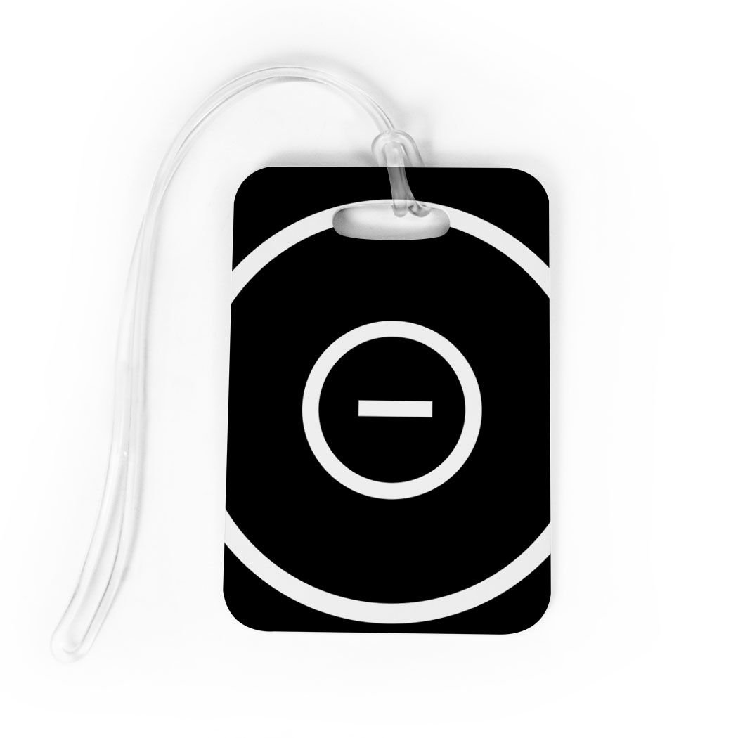 Wrestling Luggage & Bag Tag | Wrestling Ring | Custom Info on Back | MEDIUM | BLACK