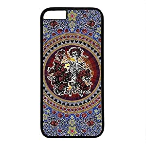 iPhone 6 Case, iCustomonline Grateful Dead Tapestry Skull and Roses Case for iPhone 6 PC Material Black