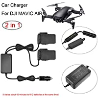 Rucan Dual 2 Battery Power Car Fast Charger Adapter For DJI Mavic AIR Drone Accessory