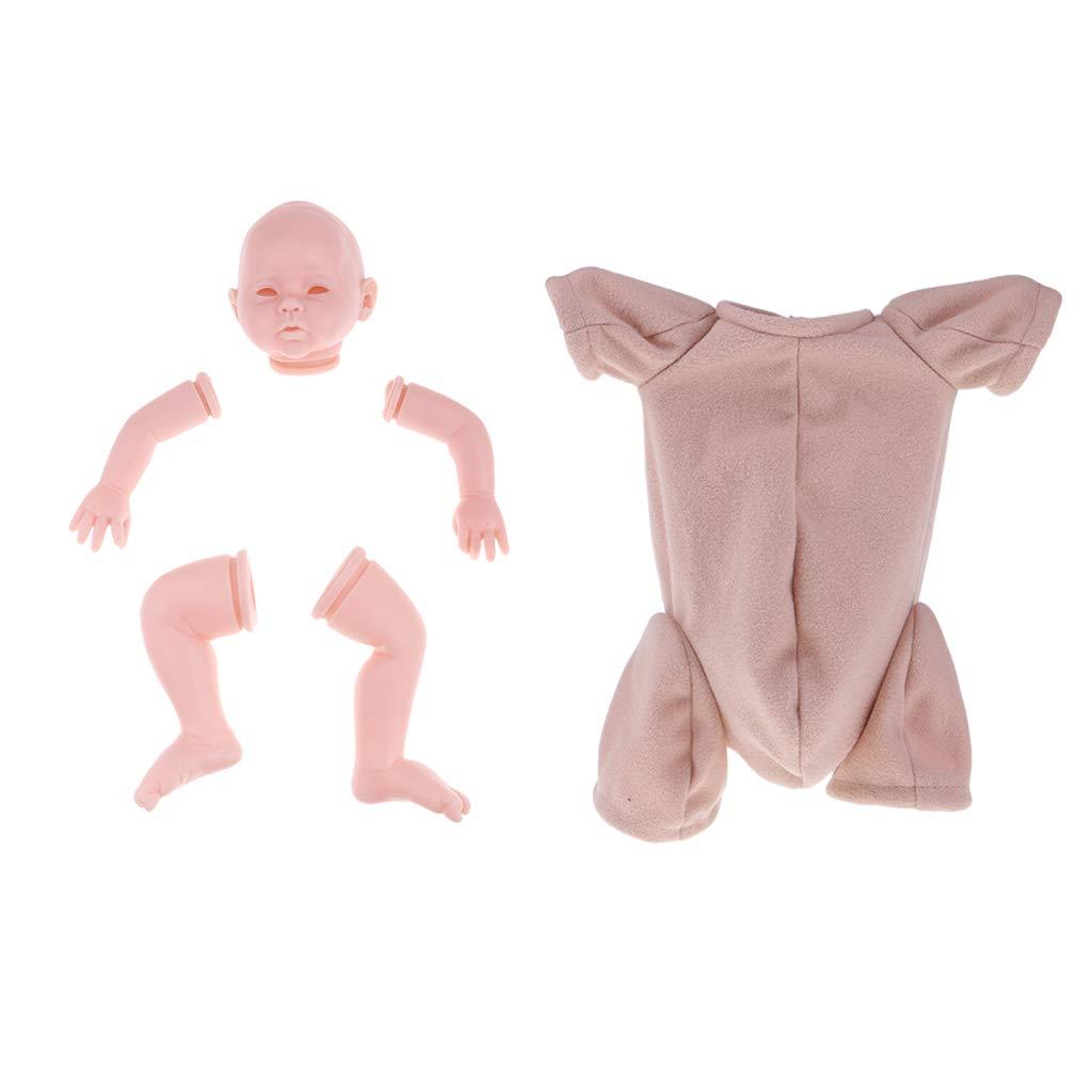Amazon.es: Baoblaze Set para Cabeza + 3/4 Brazos + Piernas Completas + Tela para Muñecas Bebé - 20 Pulgadas: Juguetes y juegos
