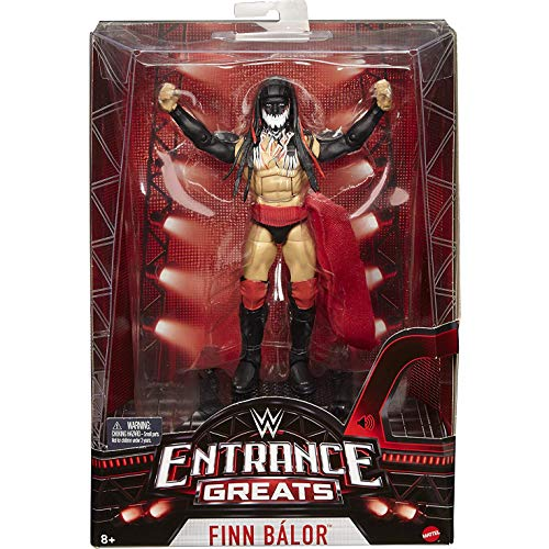 Mattel Finn Balor: WWE Entrance Greats Action Figure + 1 Official WWE Trading Card Bundle [FML12]