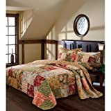100 Percent Cotton Face, Back and Fill Global Trends Antique Chic Bedspread TWIN SIZE Bedding Set