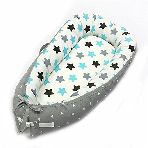 rodar de bebé de doble cara para recién nacido, cama de dormir portátil, By-2038, 80 * 50cm