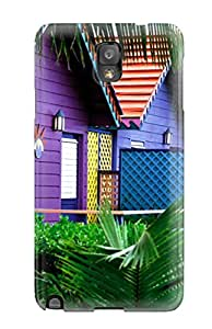 New Style 9983205K14963197 Top Quality Rugged Colorful Houses, Bahamas Case Cover For Galaxy Note 3