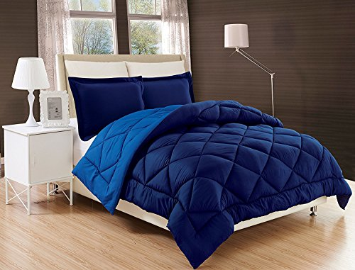 exquisite of comfort All Season Comforter and Year because of Medium Weight mega softer affordable non-obligatory relatively easy to fix 2 Piece Comforter Set Twin Twin XL Navy Blue light Blue