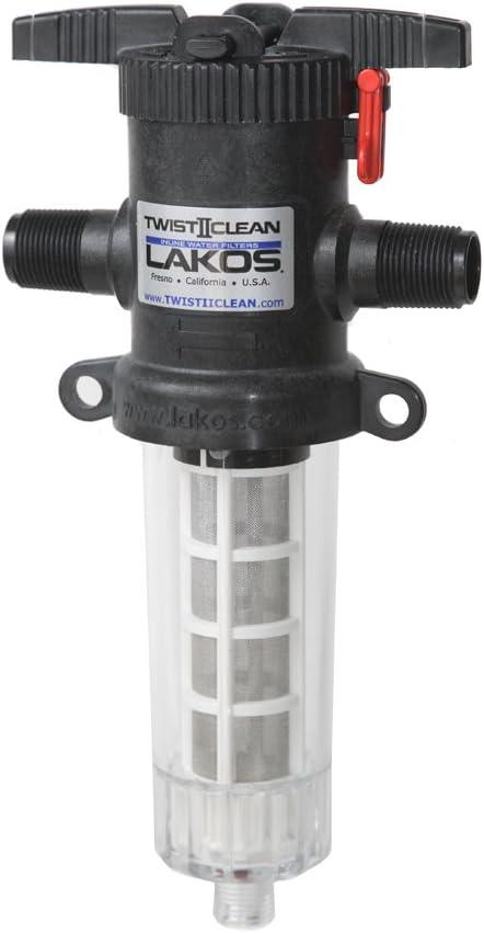 "3/4"" TwistIIClean Inline Water Filter (White 60 mesh / 250 micron)"