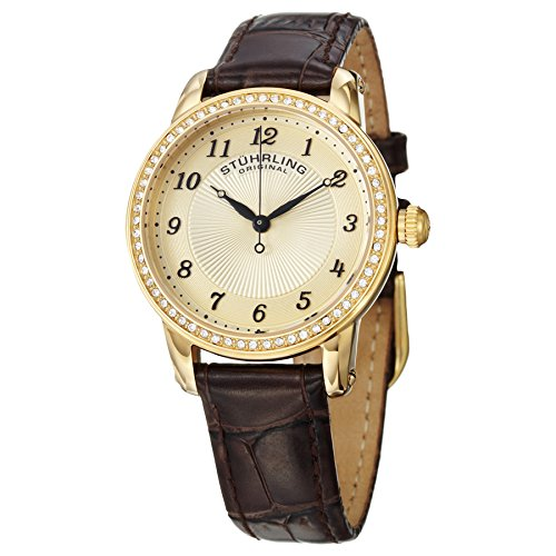 Stuhrling Original Women's  651.02 Analog Swiss Quartz Brown Leather Watch