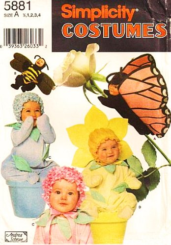 Simplicity 5881 or 7868 Toddler Butterfly Bumble Bee