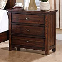 Picket House Furnishings Danner Nightstand Rustic/Chestnut/Solid Hard Wood