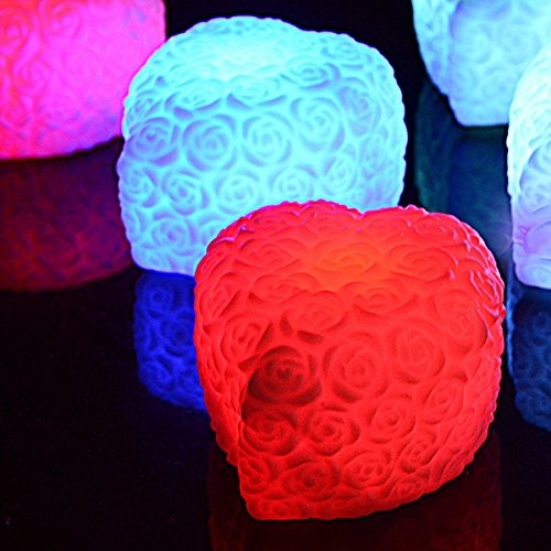 Led Color Changing Rose Shaped Light - 8