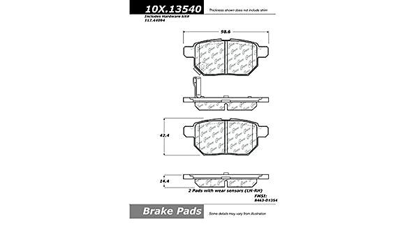 Centric 105.03980 PosiQuiet Ceramic Pads