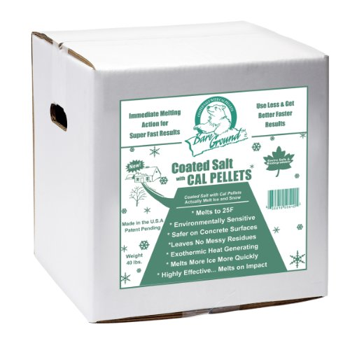 Bare Ground BGCSCA-40 Premium Coated Granular Ice Melt with Calcium Chloride Pellets, 40 lbs ()