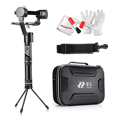 Price comparison product image Zhiyun Crane-M 3 Axis Brushless Handheld Gimbal - Three 32bit MCUs 360 Degree Unlimited Rotation 12 Hours Running Time 125g to 650g Payload for Smartphones / Action Cameras / DC / Mirrorless Cameras