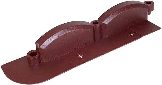 Emsco 20 ft. trim-free resina rojo ladrillo borde del césped ...
